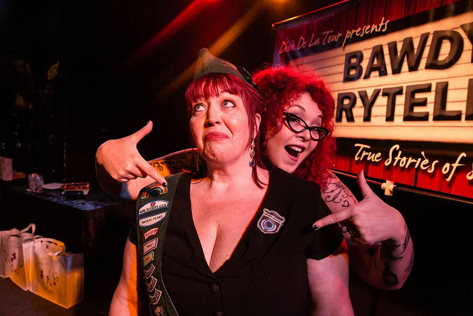 Dixie and Sunny Bawdy Storytelling event in Chicago. Photo credit: Benjy Feen