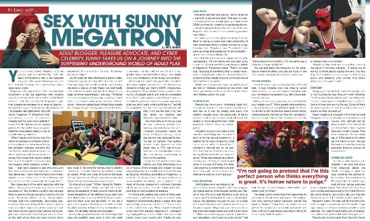 Sunny Megatron Playgirl magazine