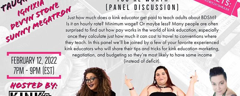 Asking for what you're worth CLASS for kink educators event flier